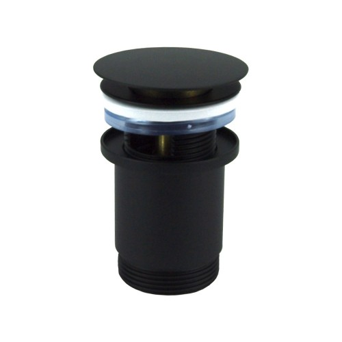 Push operated Pop-Up Waste with overflow - Matte Black
