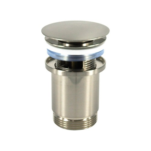 Push operated Pop-Up Waste with overflow - Brushed Nickel PVD