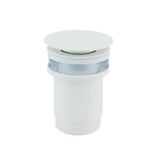 Push operated Pop-Up Waste - Matte White No Overflow