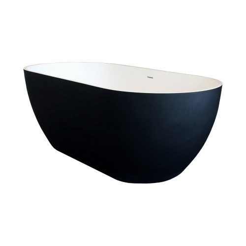 Synergii 1500 Freestanding Bath - white and black