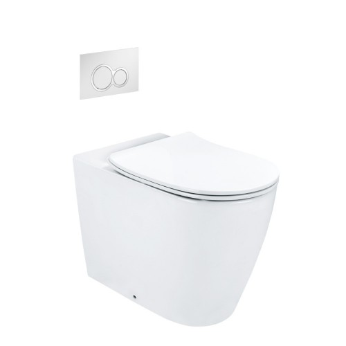 Synergii Wall Faced Toilet Suite With Kibo Flush Panel