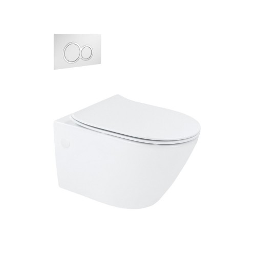 Synergii Wall Hung Toilet Suite With Kibo Flush Panel