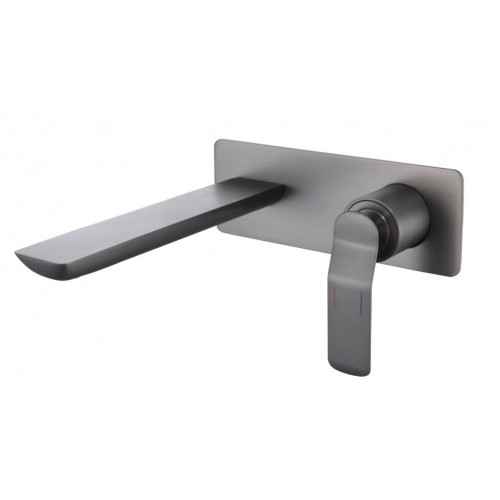 Arcisan Synergii Wall Mounted Basin Mixer - Brushed Gun Metal