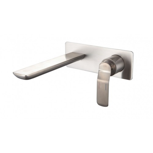 Arcisan Synergii Wall Mounted Basin Mixer - Satin Nickel PVD