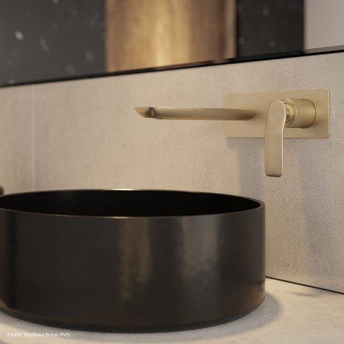 Arcisan Synergii Wall Mounted Basin Mixer - Brushed Brass PVD