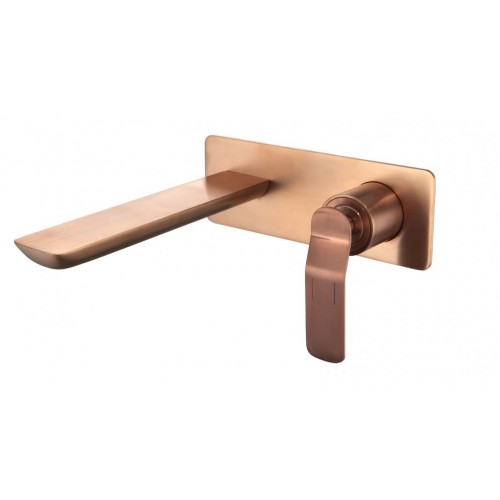 Arcisan Synergii Wall Mounted Basin Mixer - Brushed Rose Gold PVD