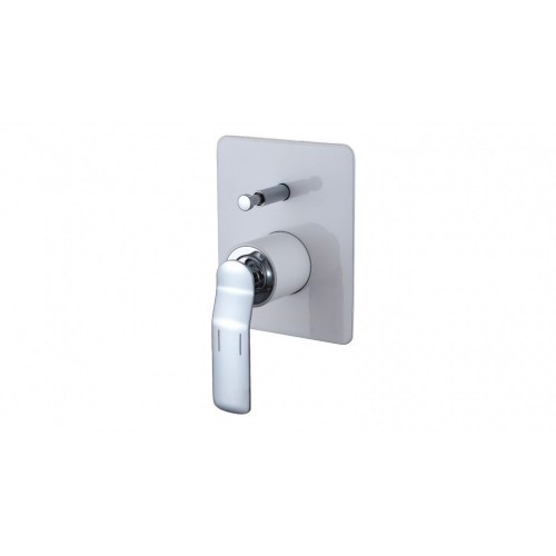 Arcisan Synergii Bath/Shower Mixer with Diverter - White With Chrome Trim