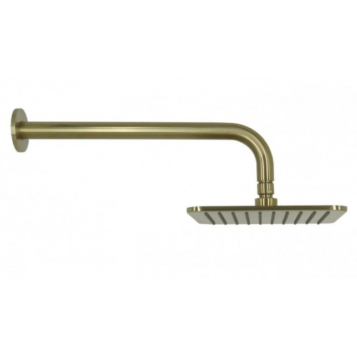 Arcisan Square Brushed Brass Wall Mounted Shower Head