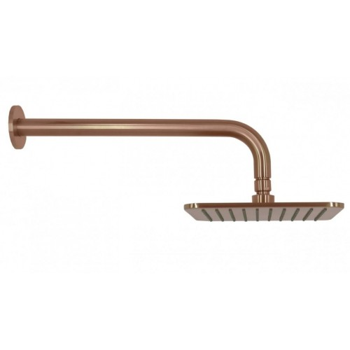 Arcisan Square Brushed Rose Gold PVD Wall Mounted Shower Head