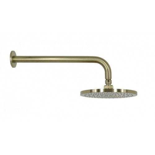 Arcisan Brushed Brass Wall Mounted Shower Head