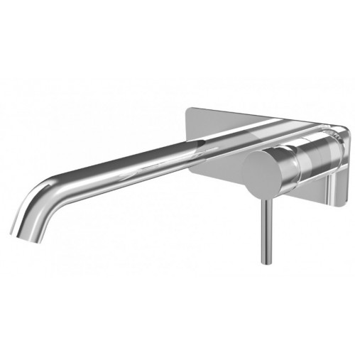 Axus Pin Lever Wall Mount Basin Mixer - 220mm spout