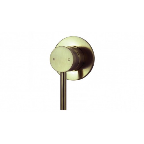 Arcisan Axus Pin Lever Bath/Shower Mixer/Brushed Brass PVD