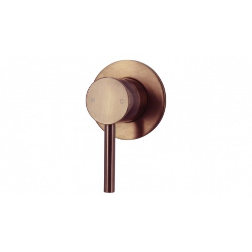 Arcisan Axus Pin Lever Bath/Shower Mixer - Brushed Rose Gold PVD