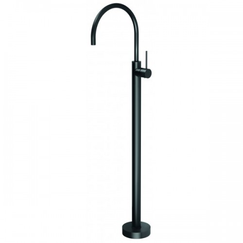 Axus Matte Black Pin Lever Freestanding Bath Mixer