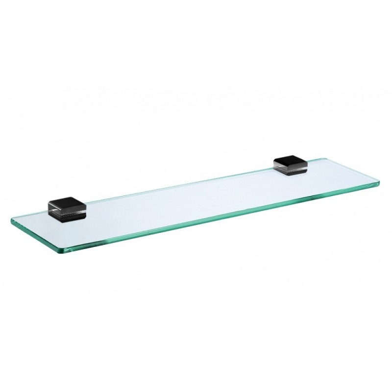 Arcisan Eneo Matte Black Glass Shelf 50cm