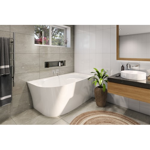 Decina Natalia 1500 Back To Wall Corner Bath
