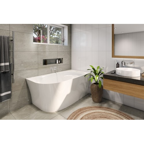 Decina Natalia 1500 Back To Wall Corner Bath/RH