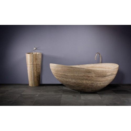 Mamo Atollo Travetine Marble Bath