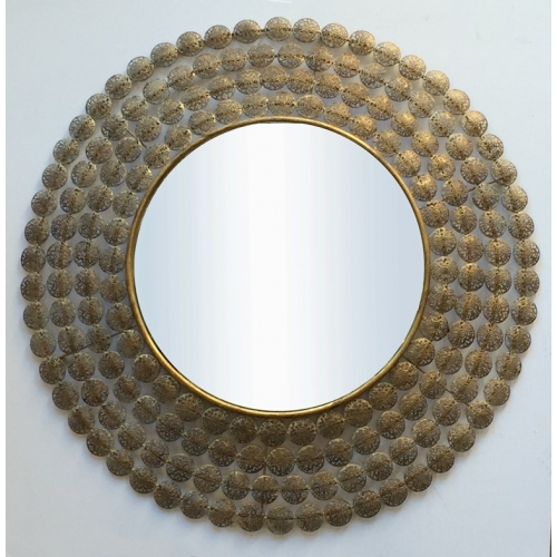 Interlace Star Gold Wall Mirror