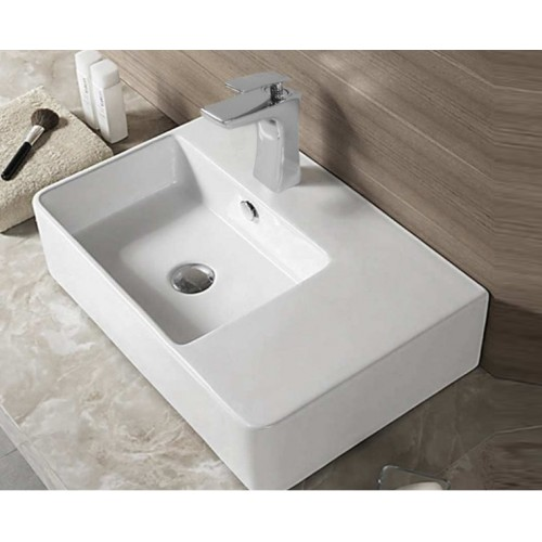 Bellagio Soft 615mm Bench/Wall Basin Left Hand Bowl