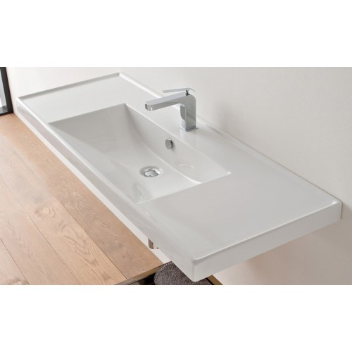 Scarabeo 1210mm Wall Bench Basin ML