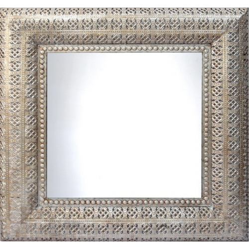 Interlace Champagne Square Wall Mirror