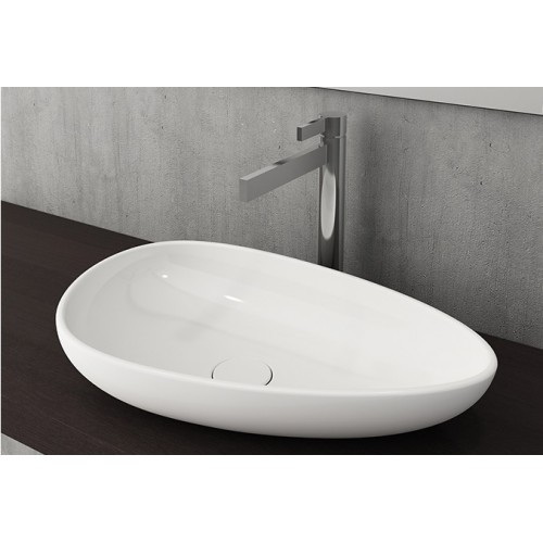 Etna 595mm Vessel Basin/Gloss White