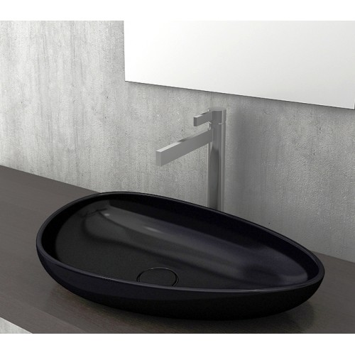 Etna 595mm Vessel Basin/Gloss Black