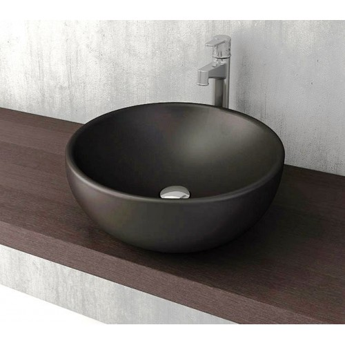 Roma 450mm Vessel Basin/Matte Black