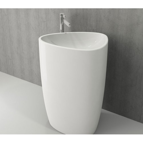 Etna 580mm Free Standing Basin/Gloss White