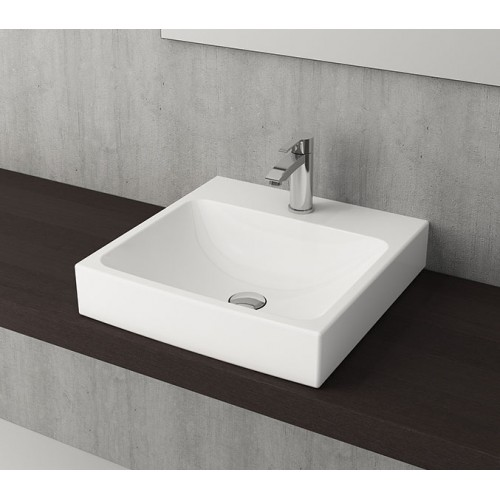 Scala Arch 480mm Wall Basin/Gloss White