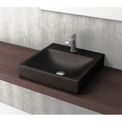Scala Arch 480mm Wall Basin/Matte Black