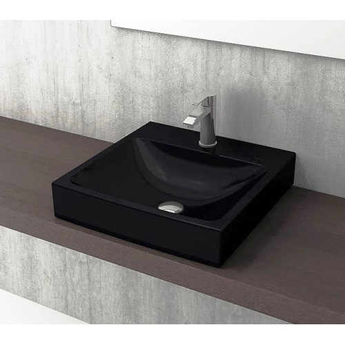 Scala Arch 480mm Wall Basin/Gloss Black