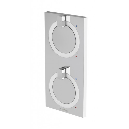 Phoenix Ortho Twin Shower/Wall Mixer