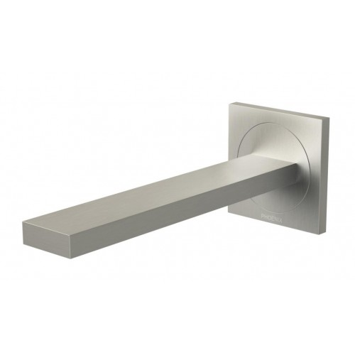 Phoenix Ortho Wall Basin/Bath Outlet 200mm/Matte Brushed Nickel