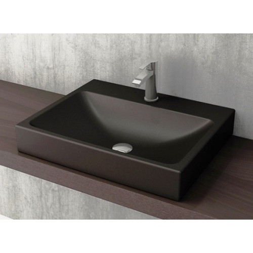 Scala Arch 600mm Wall Basin/Matte Black