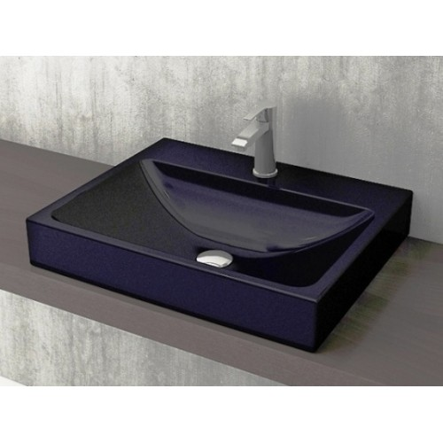 Scala Arch 600mm Wall Basin/Gloss Black