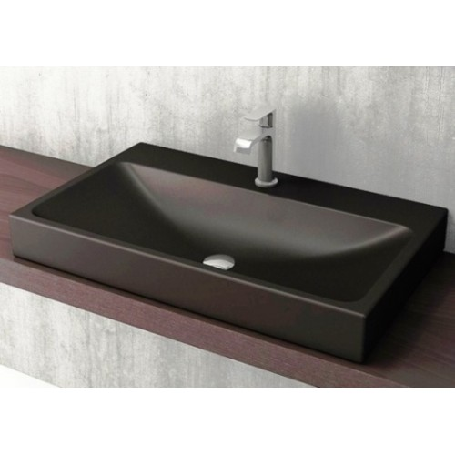Scala Arch 800mm Wall Basin/Matte Black