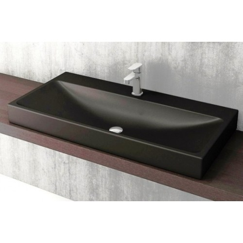 Scala Arch 1000mm Wall Basin/Matte Black