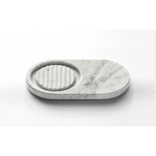 Marmo Oval Soap Dish White Carrara