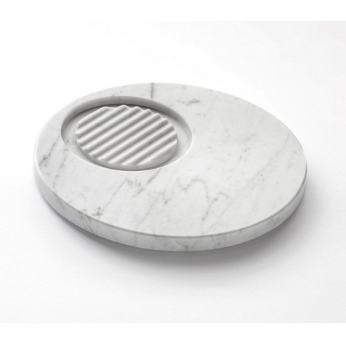 Marmo Soap Holder White Carrara