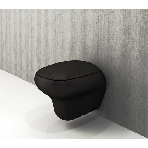 Bocchi Fenice Wall Hung Pan/Matte Black