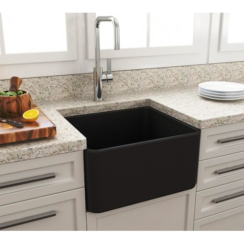 Paco Jaanson Casa 500mm Ceramic Kitchen Sink/Matte Black