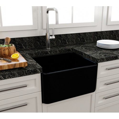 Paco Jaanson Casa 500mm Ceramic Kitchen Sink/Gloss Black