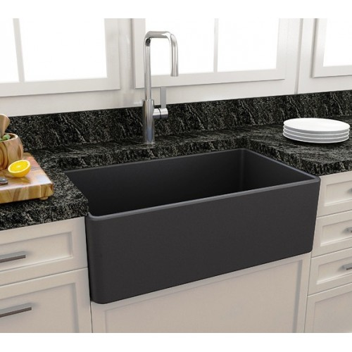 Paco Jaanson Casa 750mm Ceramic Kitchen Sink/Matte Black