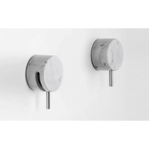 Paco Jaanson Marmo Wall Tap Assembly/Chrome with White Carrara