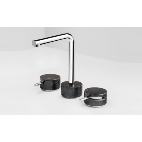 Paco Jaanson Marmo Basin Set/Chrome with Black Marquina
