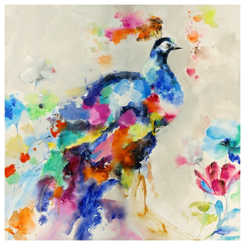 Peacock Candy Canvas Painting