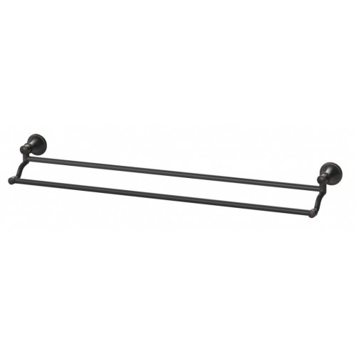 Phoenix Nostalgia Double Towel Rail 760mm/Antique Black