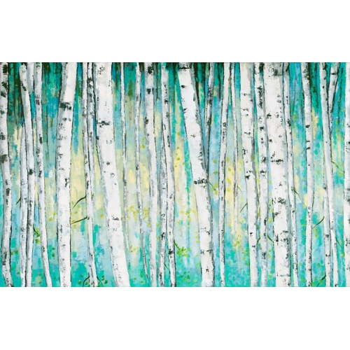 Aqua Forest Canvas Painting